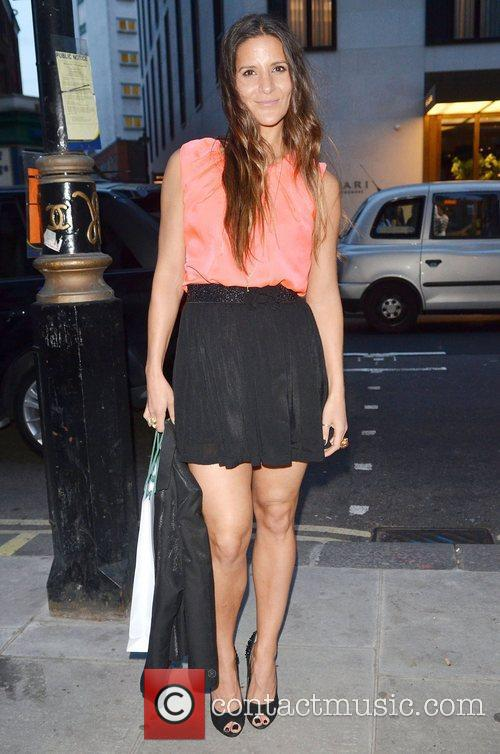 Amanda Byram,  at Dean Piper's birthday party...