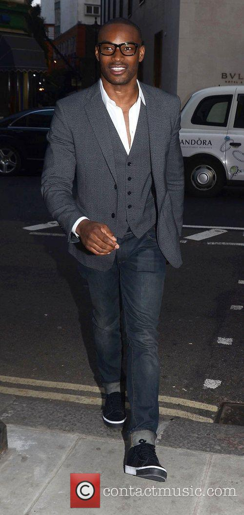 Tyson Beckford,  at Dean Piper's birthday party...