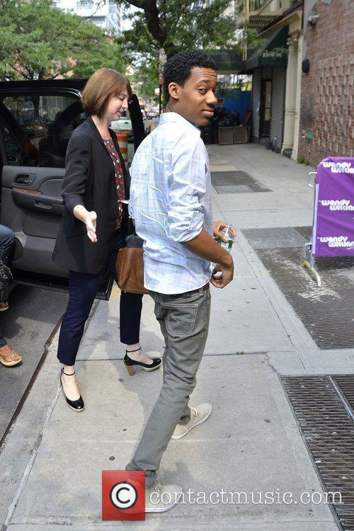 Tyler James Williams Celebrities arriving at the Wendy...
