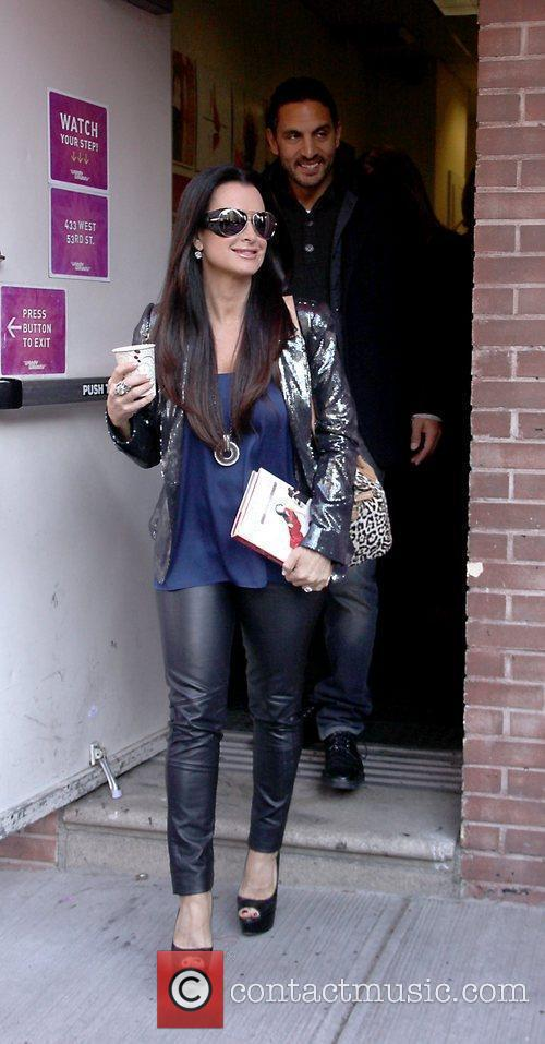 Kyle Richards Celebrities departing the studios of 'The...