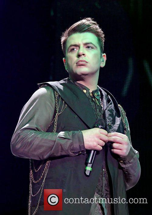 mark feehily of westlife performing on their 3883048