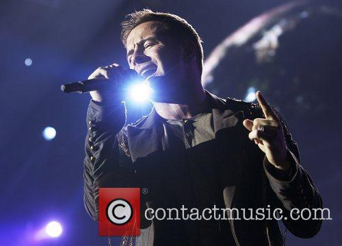 Shane Filan of Westlife performs live on stage...
