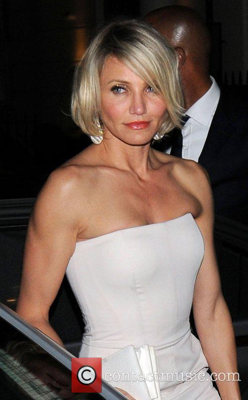 Cameron Diaz arriving at Whisky Mist club,