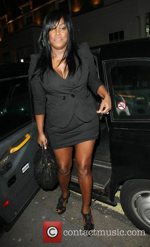 Mica Paris Celebrities outside Whisky Mist club London,...