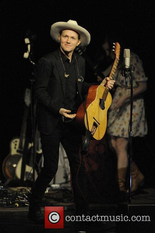Luke Doucet Whitehorse perform live on stage at...