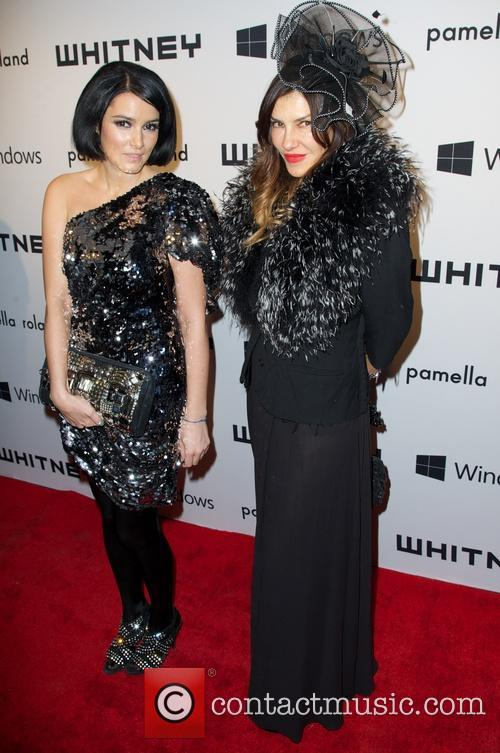 Tina Antoniades; Sara LaFontaine 2012 Whitney Gala at...