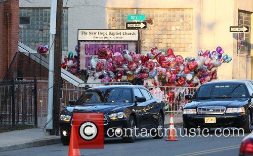 The funeral of Whitney Houston at the New...