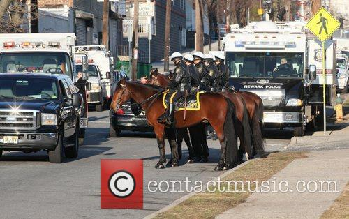 Newark Mounted Police  The funeral of Whitney...