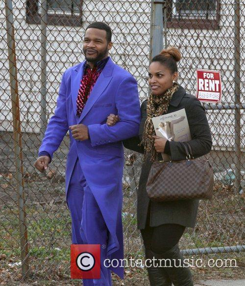 Singer Jaheim and guest The funeral of Whitney...