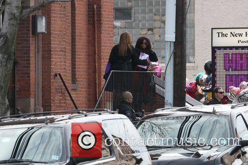Chaka Khan and her daughter The funeral of...