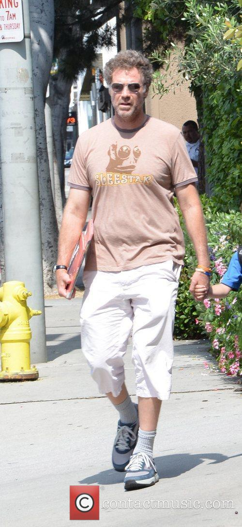 will ferrell seen picking up his son 5835801