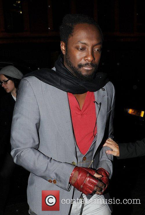 will.i.am arrives at The Royal College of Art...