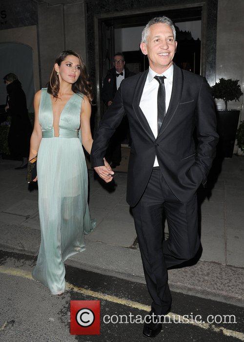 Gary Lineker and wife Danielle Lineker leaving Claridge's...