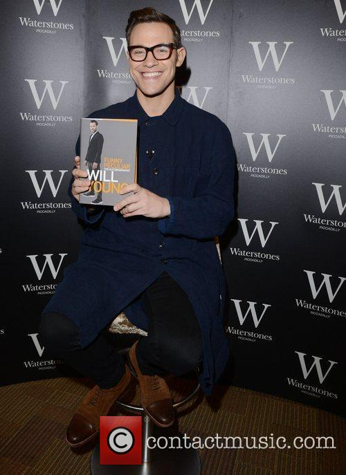 Will Young signs copies of his book 'Funny...