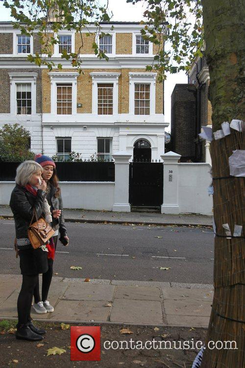 Exterior Views Amy Winehouse's house in Camden. The...