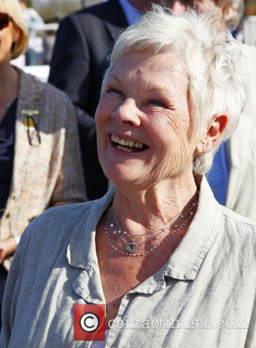 dame judy dench watches her horse run 3797987