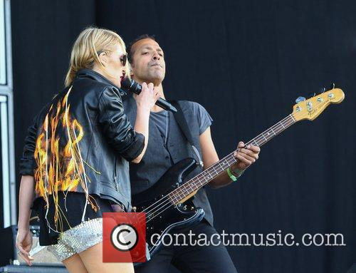 Emily Haines and Joshua Winstead of Metric Barclaycard...