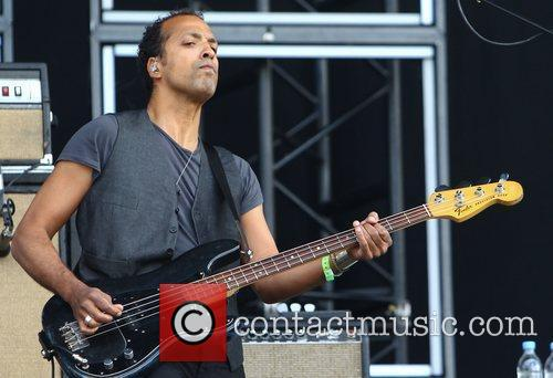Joshua Winstead of Metric Barclaycard Wireless Festival 2012...