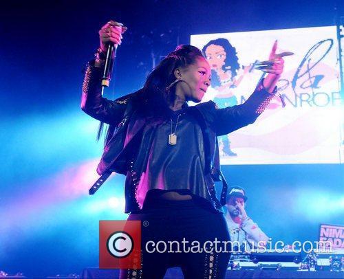 Lola Monroe performs during Wiz Khalifa 2050 World...