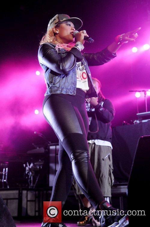 Trina performs during Wiz Khalifa 2050 World Tour...