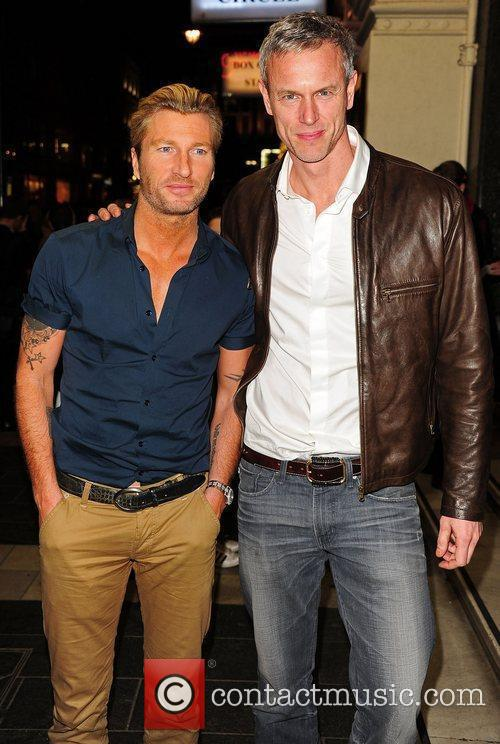 Robbie Savage and Mark Foster  attending the...