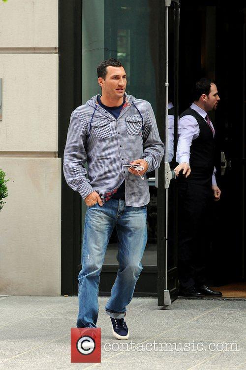Wladimir Klitschko outside his Manhattan Hotel New York...