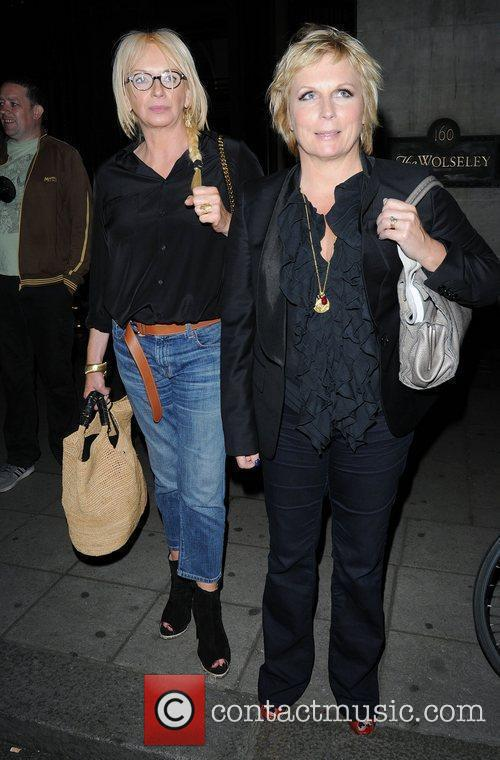 Jennifer Saunders leaving The Wolseley Restaurant,