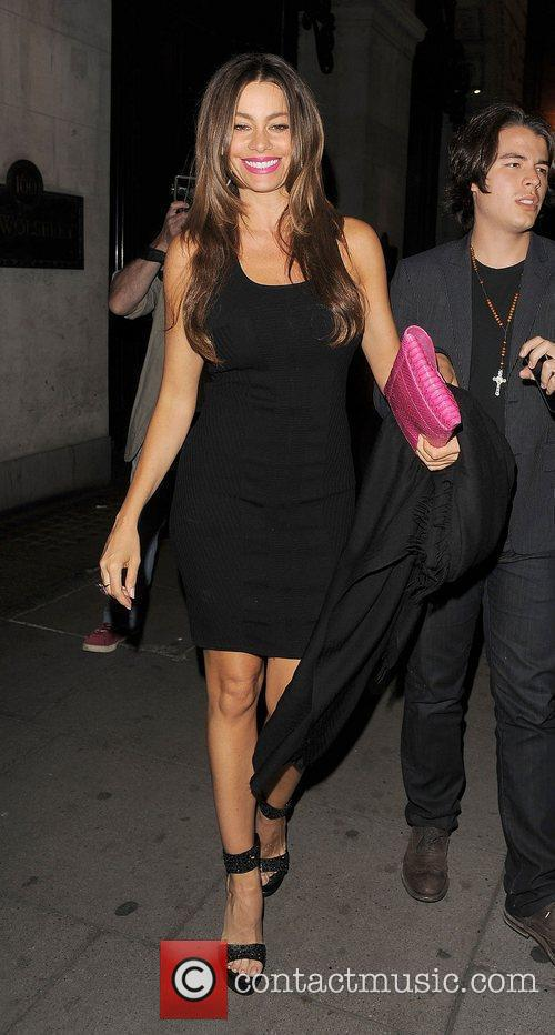 Sofia Vergara leaving The Wolseley restaurant in Mayfair.