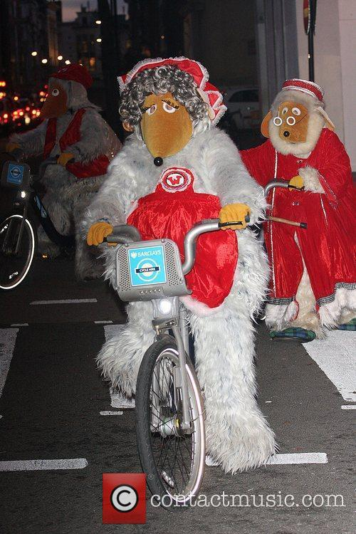 Madame Cholet of The Wombles ride on Barclays...