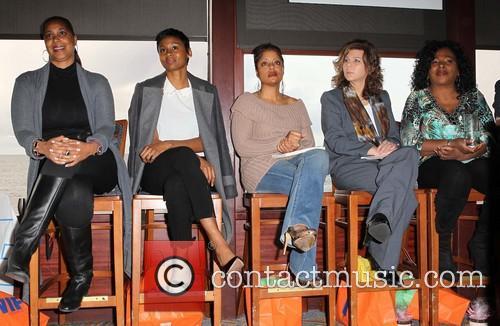 Kimberly Ogletree, Emayatzy Corinealdi, Carla Garrett, Dr. Stacy L. Smith and Dr. Jewel Diamond 6