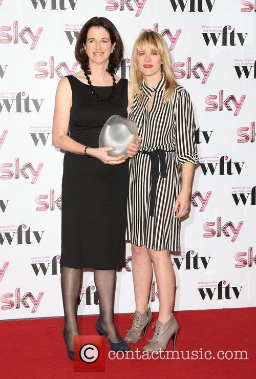 Andrea Calderwood with Edith Bowman, winner of Envy...