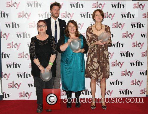 Rick Edwards with Joanna Scanlan, Vicki Pepperdine and...