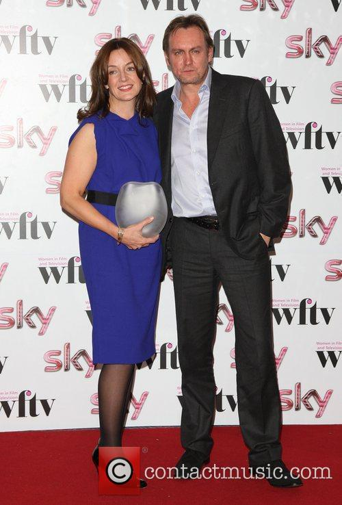 Sarah Cooper with Philip Glenister Barclays Corporate Business...