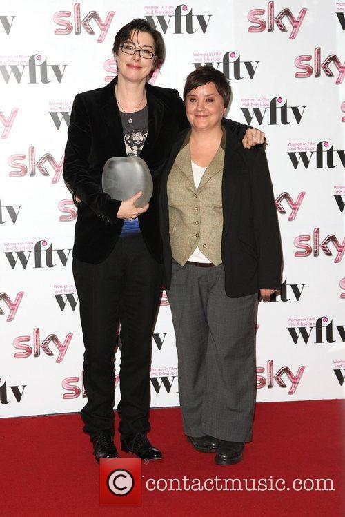 Sue Perkins and Susan Calman, winner of BBC...