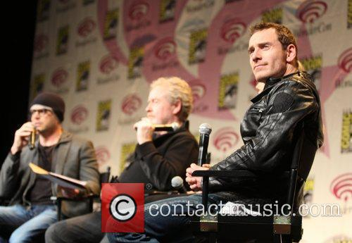 Michael Fassbender and Charlize Theron  Wondercon 2012...