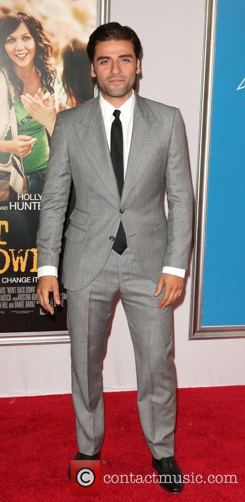 Oscar Isaac,  at the New York premiere...