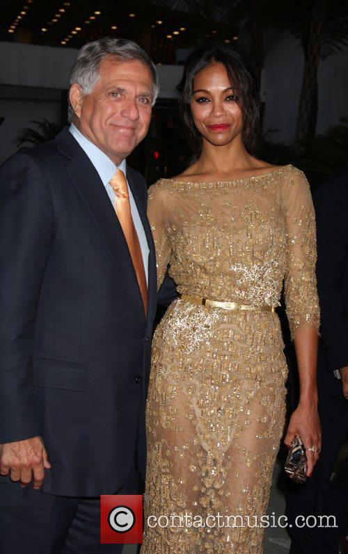Les Moonves and Zoe Saldana 2