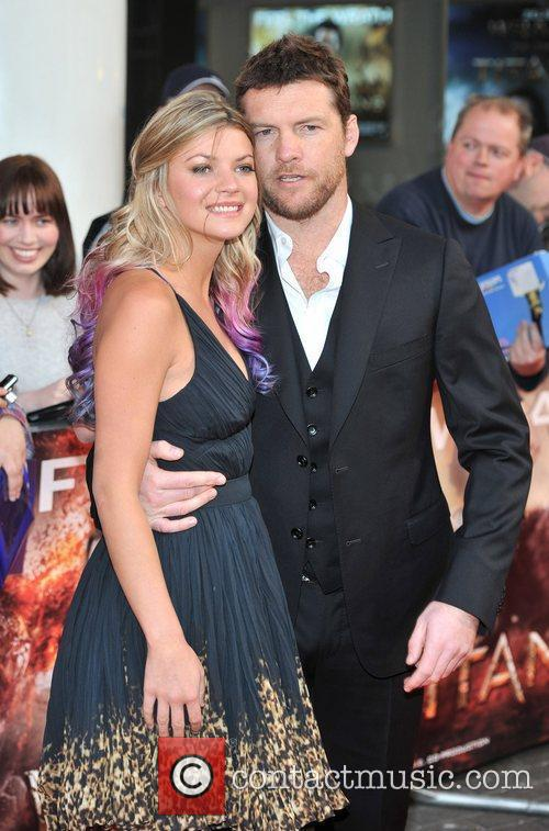 Sam Worthington and partner Crystal UK film premiere...