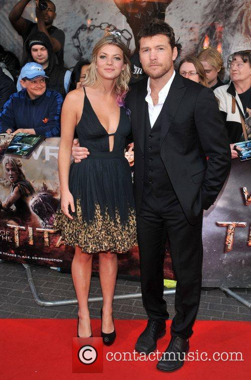 Sam Worthington and Crystal Humphries Wrath of the...