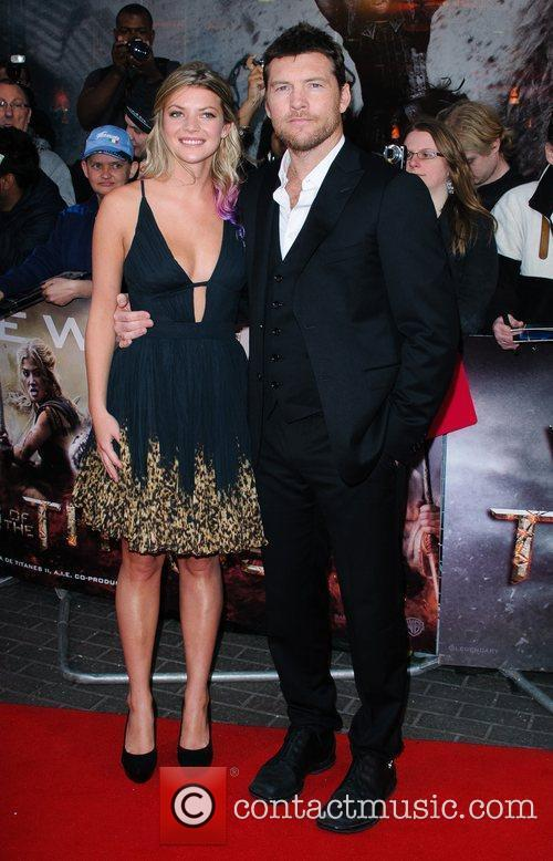 Sam Worthington and partner Crystal 'Wrath Of The...
