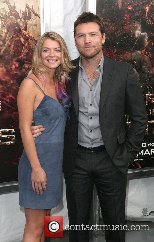 Crystal Humphries, Sam Worthington,  at the world...