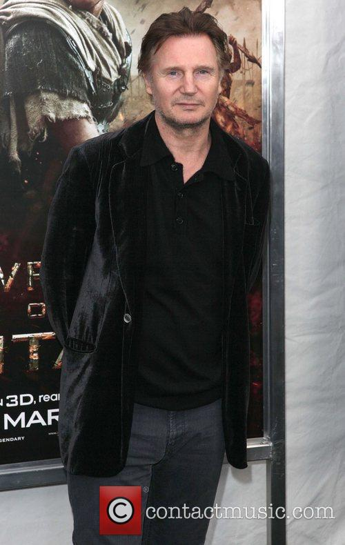 Liam Neeson,  at the world premiere of...