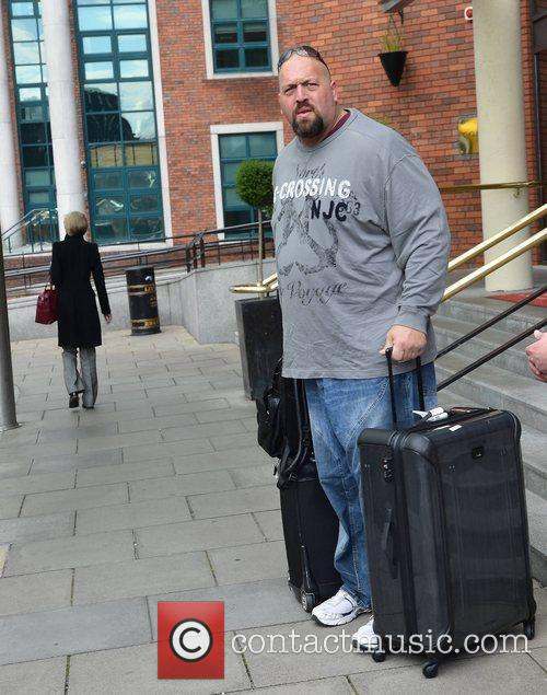 Big Show WWE wrestlers outside of their hotel...