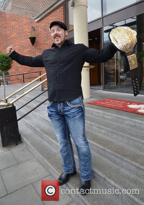 Irish grappler Sheamus shows off his new WWE...
