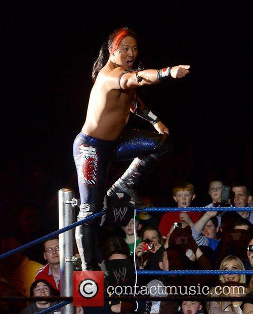 Yoshi Tatsu WWE Smack Down at the O2...