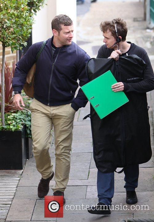 Dermot O'Leary X Factor contestants arrive at rehearsal...