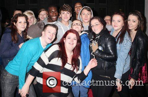 District3 swamped by fans as they arrive back...