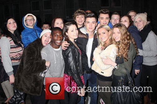 Union J swamped by fans as they arrive...
