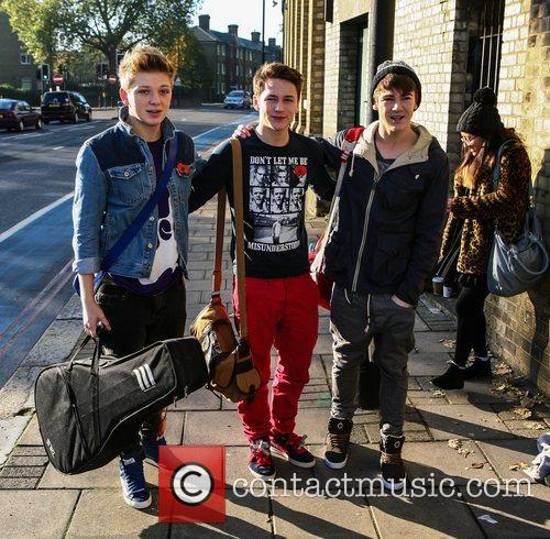 'The X Factor' contestants arrive at the rehearsal...