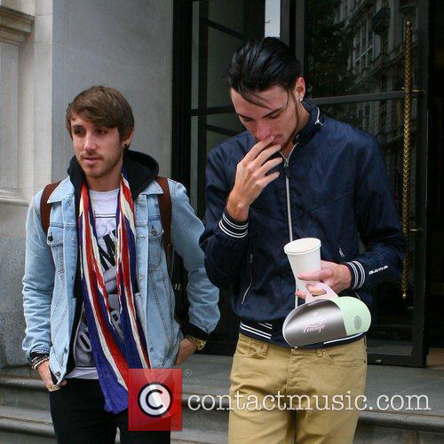 X Factor contestants outside the Corinthia hotel